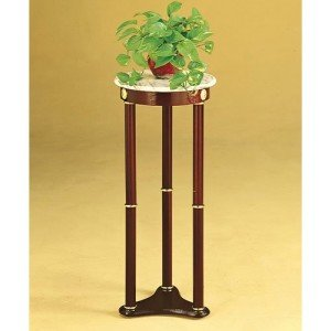 Marble and cherry wood finish - an attractive combination in a plant stand