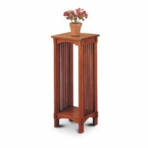 A beautiful and sturdy example of a simple wooden plant stand